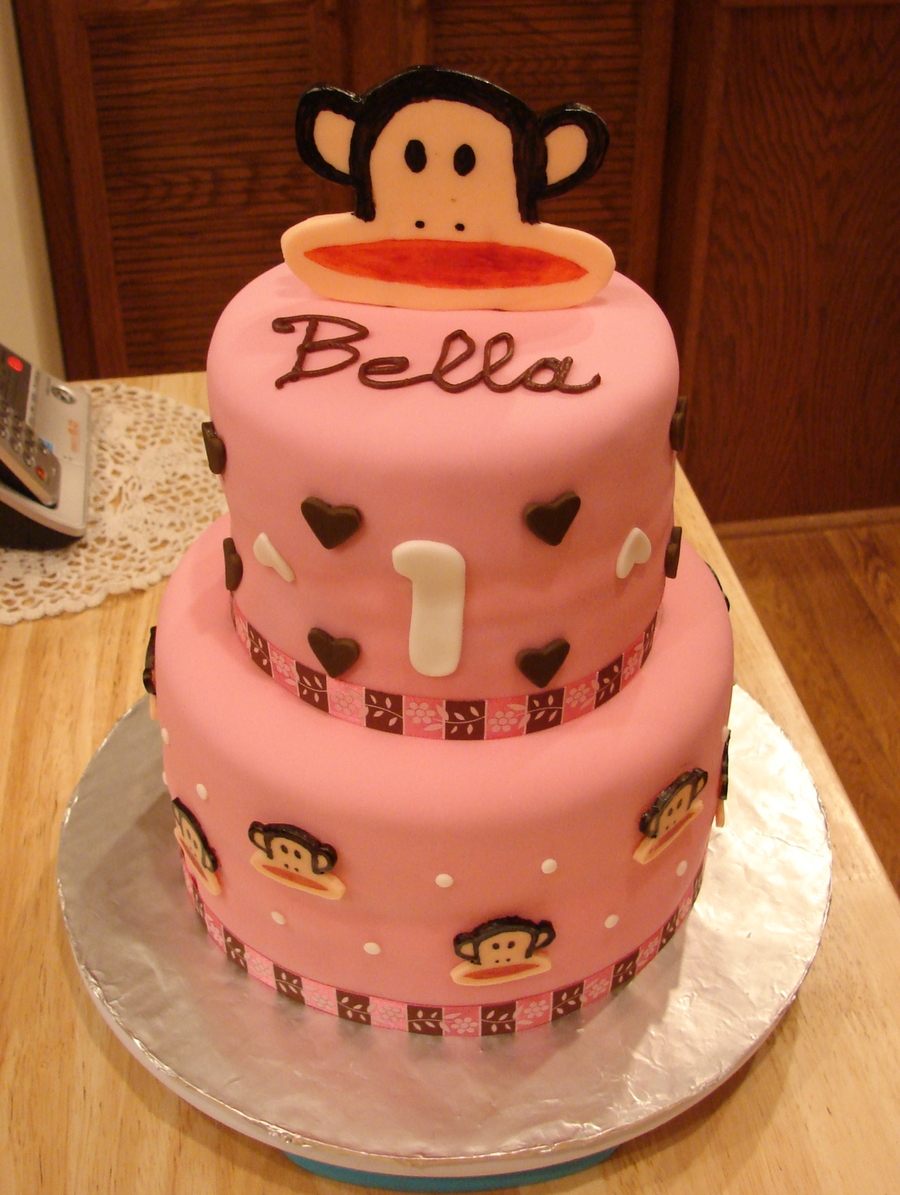 Monkey Birthday Cake Paul Frank Monkey Birthday Cake Cakecentral