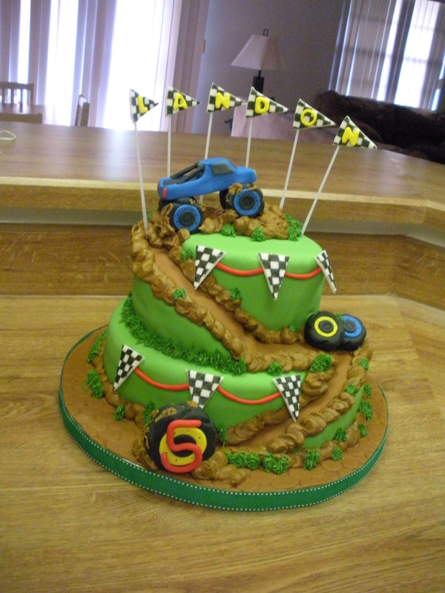 Monster Truck Birthday Cake Monster Truck Birthday Party Cakecentral ...