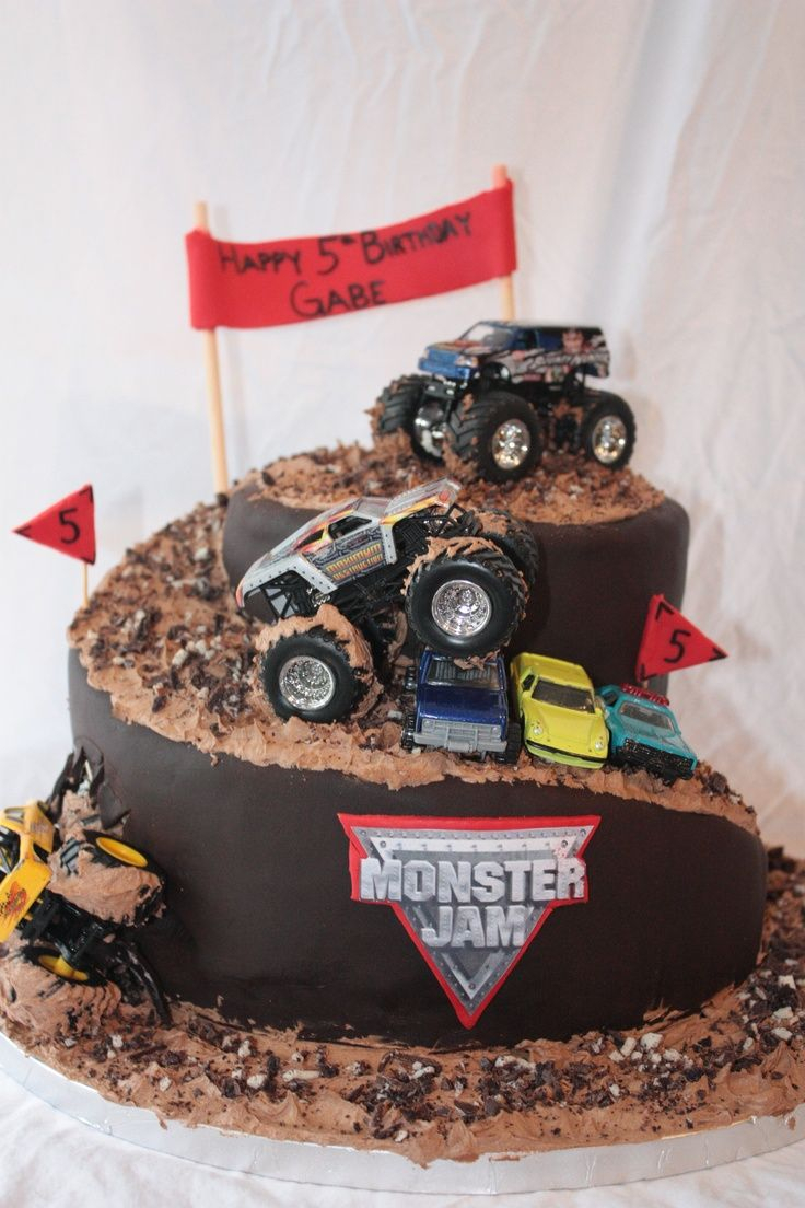 32+ Brilliant Image of Monster Truck Birthday Cake