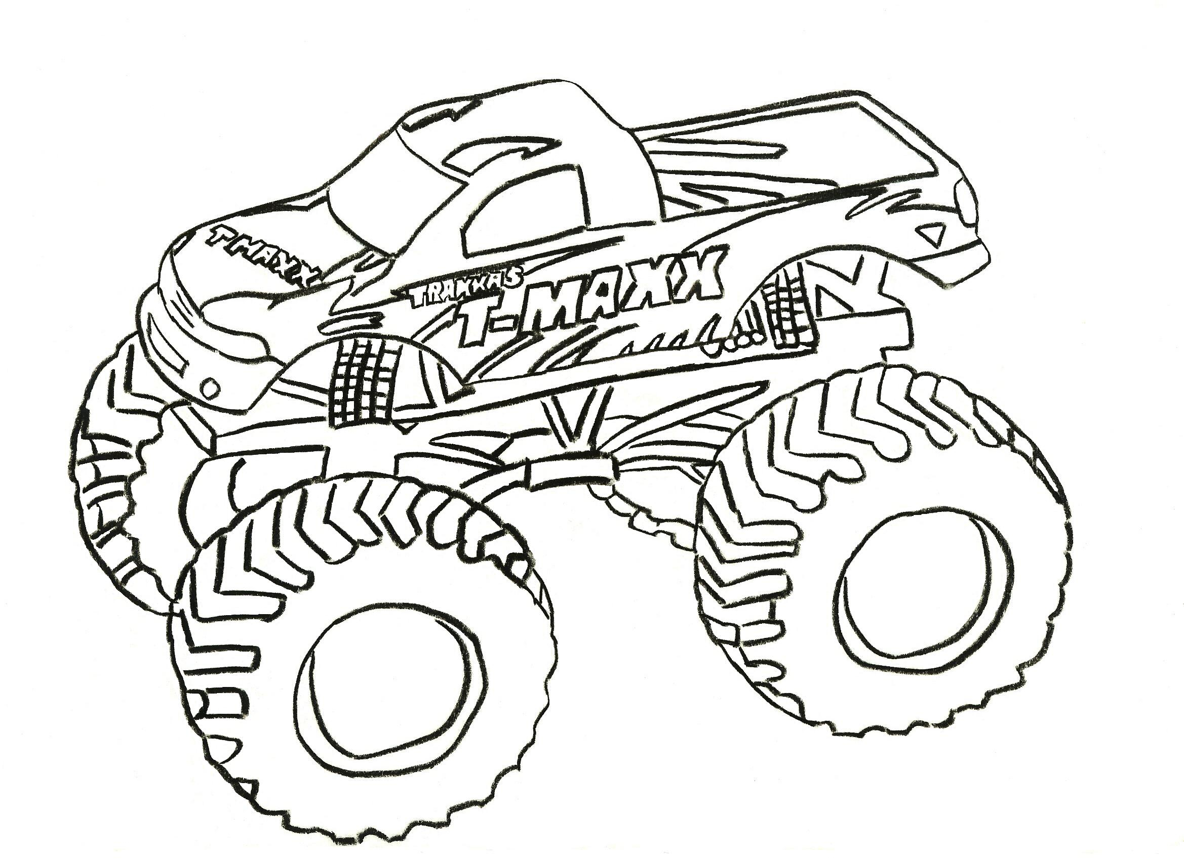 Brilliant Picture of Monster Trucks Coloring Pages
