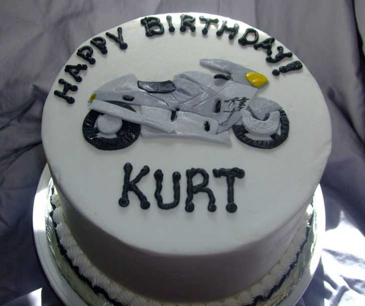 Motorcycle Birthday Cakes Motorcycle Birthday Cake Chocolate Cake With Buttercream F Flickr