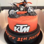 Motorcycle Birthday Cakes Really Awesome Birthday Cake With A Ktm Dirt Bike On It My Fav
