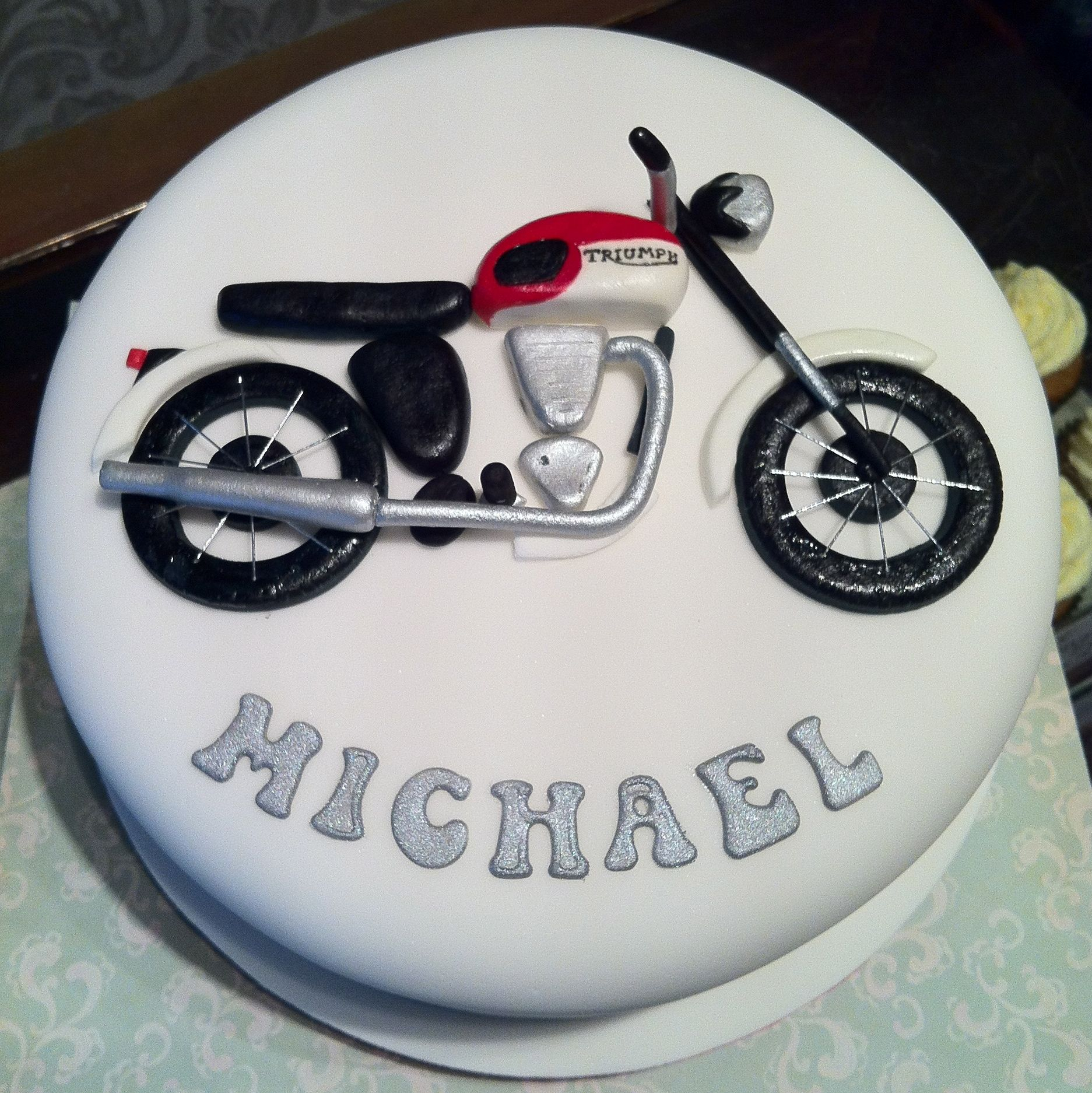 Motorcycle Birthday Cakes Triumph Motorbike Cake Julianna Chakmakian We Need To Do This