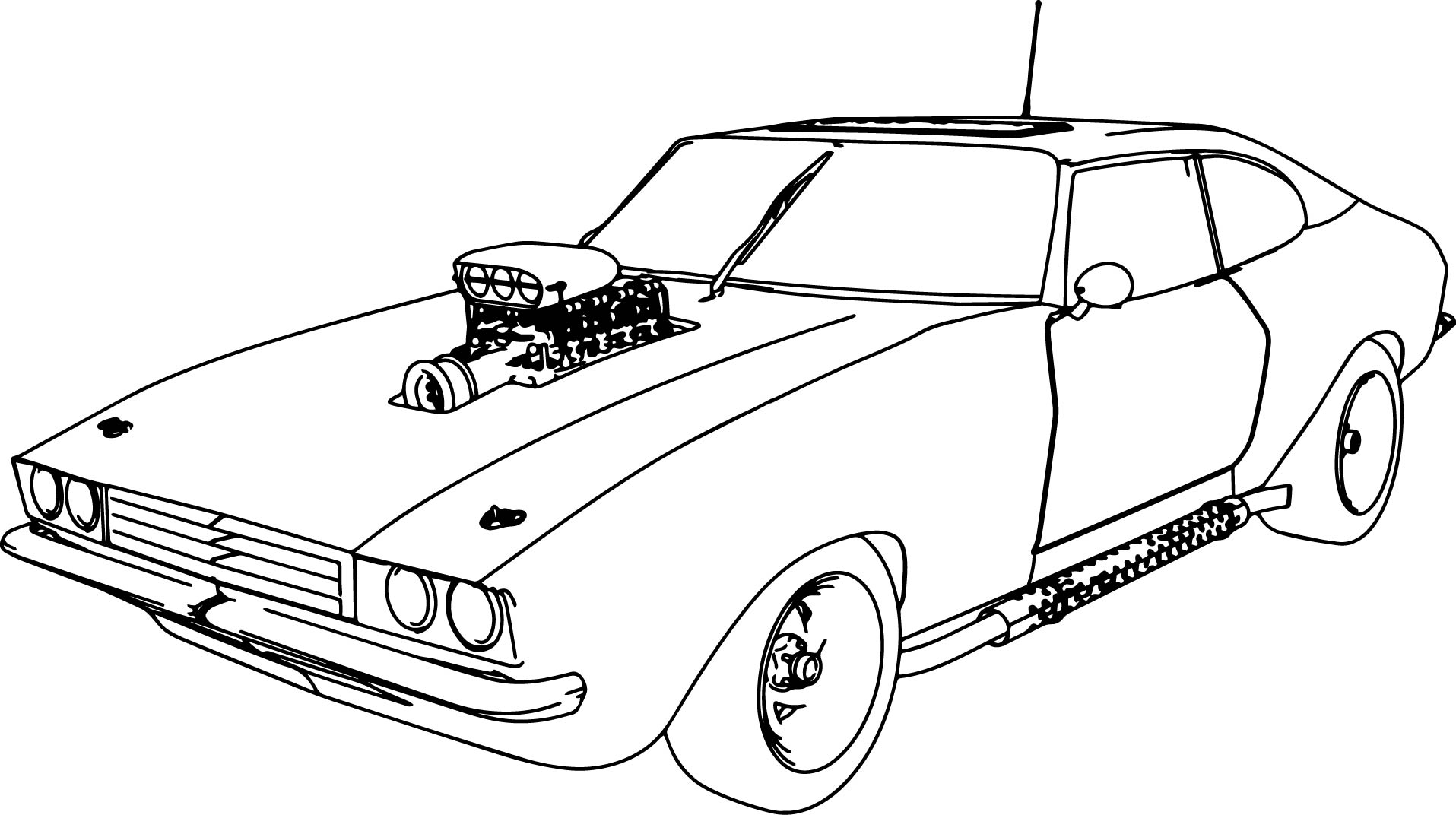 Exclusive Photo of Muscle Car Coloring Pages
