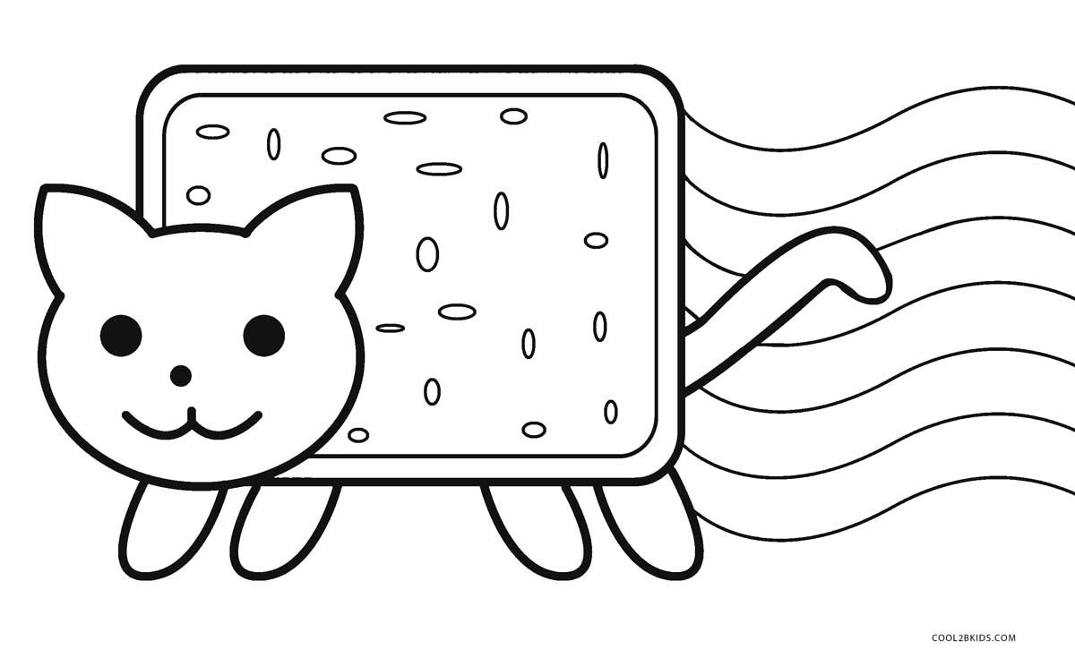 Brilliant Photo of Nyan Cat Coloring Pages