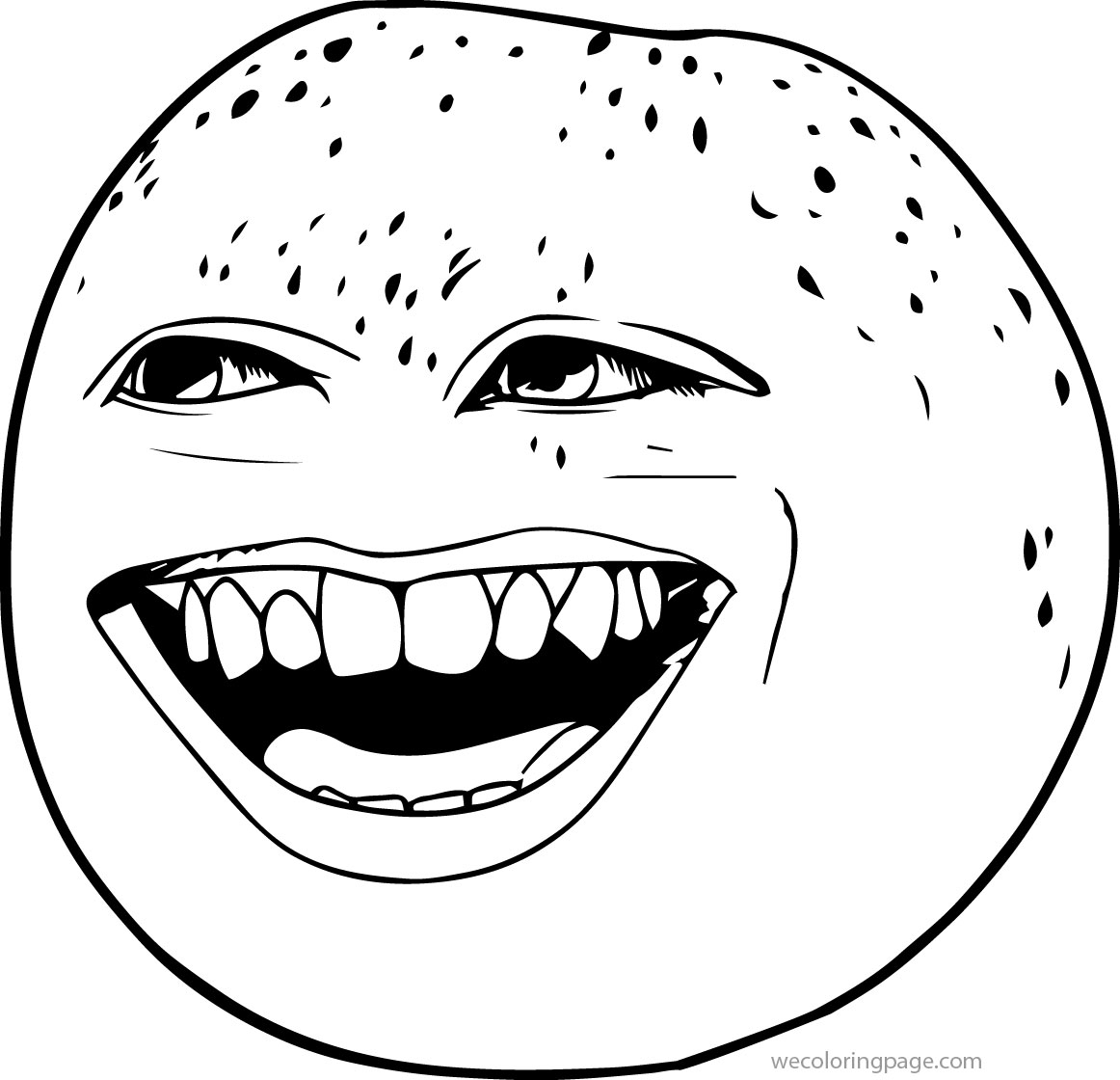 Orange Coloring Page Laugh The Annoying Orange Coloring Page Wecoloringpage