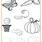 Orange Coloring Page Orange Color Page Orange Activity Sheet Repinned Totetude Com