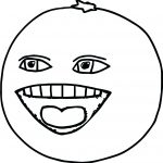 Orange Coloring Page Orange Coloring Page The Annoying Orange Apple Coloring Page