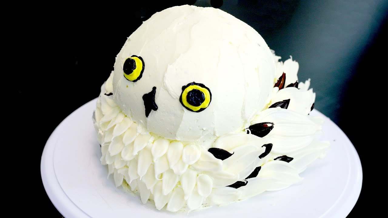 Owl Birthday Cake How To Make A Hedwig Owl Cake From Harry Potter Recipe Youtube