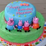 Peppa Pig Birthday Cake A Weekend Of Chocolate Birthday Cakes Egg Free And Whole Wheat
