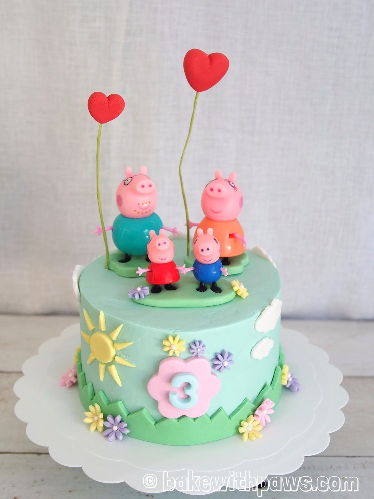 Peppa Pig Birthday Cake Peppa Pig Birthday Cake Bake With Paws