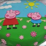 Peppa Pig Birthday Cake Peppa Pig Birthday Cake Decorating With Fondant Youtube