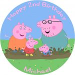 Peppa Pig Birthday Cake Peppa Pig Birthday Cake Edible Printed Round Birthday Cake Topper