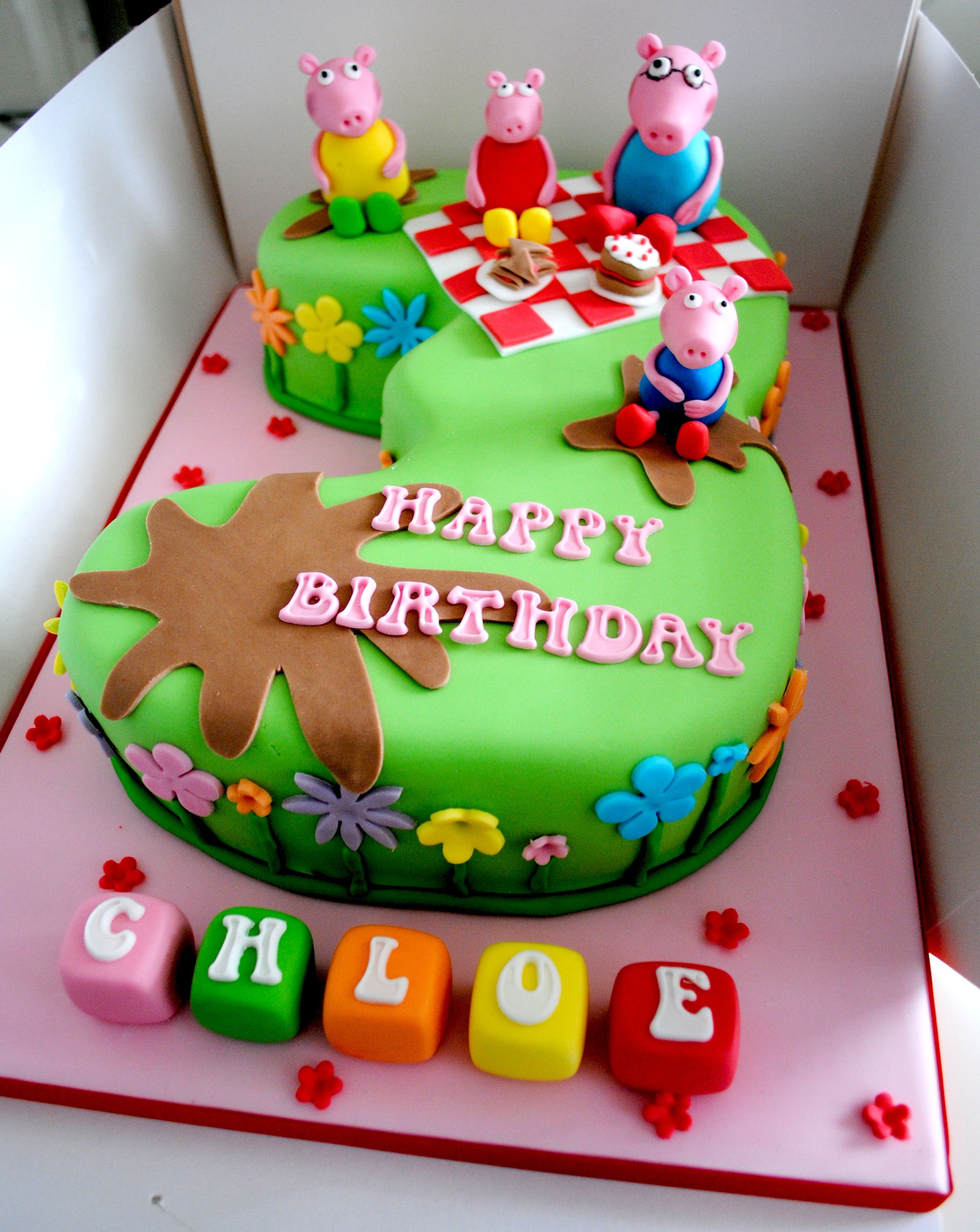 32+ Creative Photo of Peppa Pig Birthday Cake