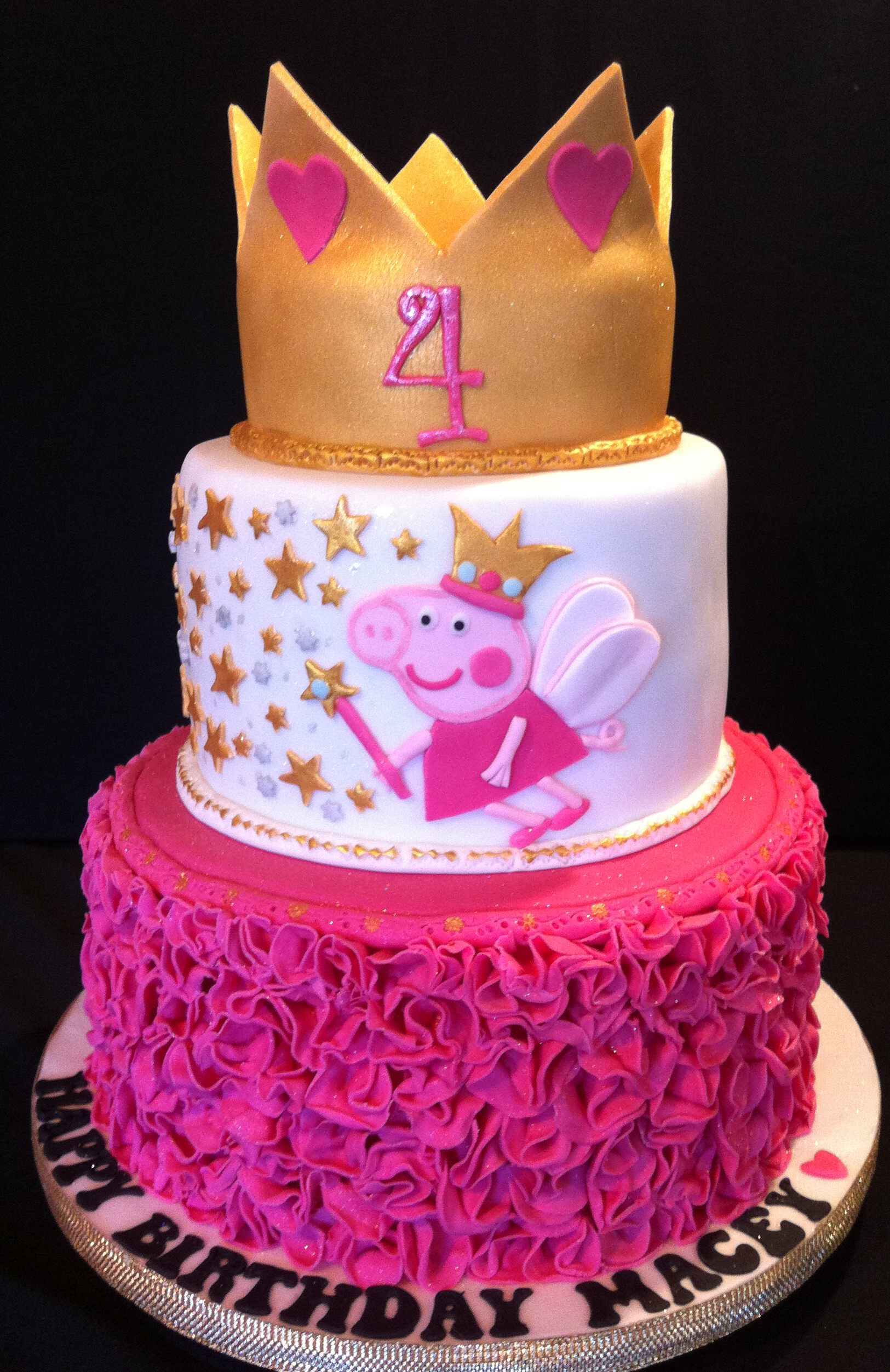 Peppa Pig Birthday Cake Peppa Pig Princess Cake Brelynn 4 Pinterest Pig Birthday Pig