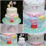 Peppa Pig Birthday Cake Tiers Tiaras Hollies Peppa Pig 1st Birthday Cake