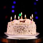 Pictures Of A Birthday Cake Happy Birthday Cake With Burning Candles Which Are Then Extinguished