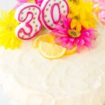 Pictures Of A Birthday Cake Lemon Layer Cake With Lemon Cream Cheese Frosting