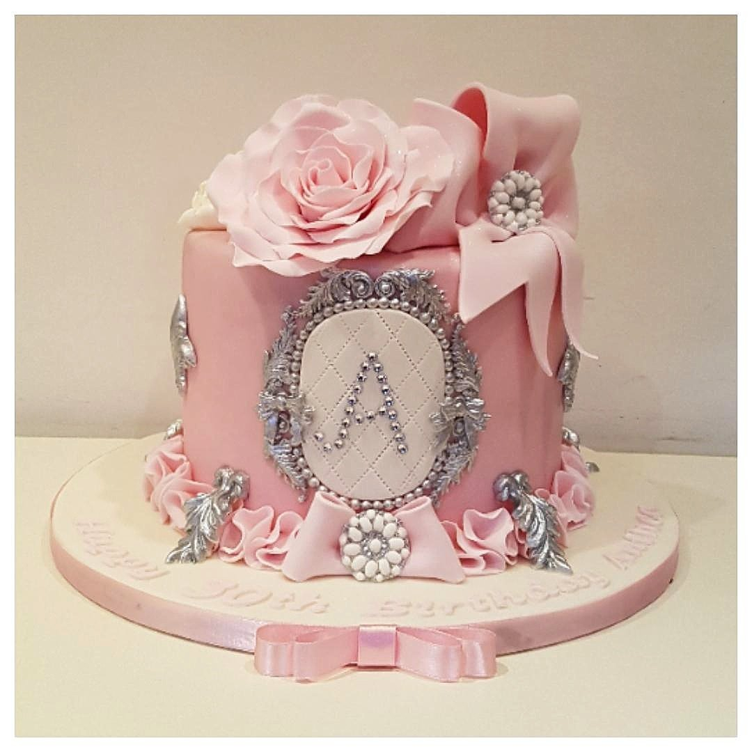 Pink Birthday Cakes Constantinecakes On Twitter Pretty Cake