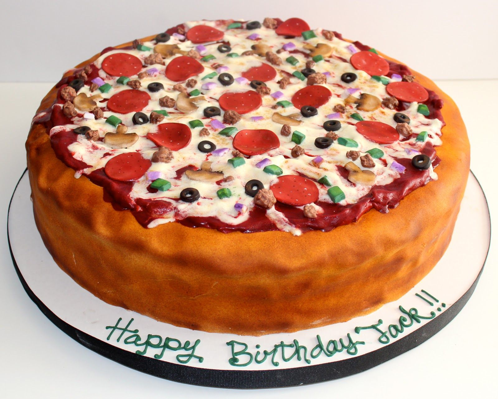Pizza Birthday Cake Chocalate Birthday Cake Pizza It Tasted Like Yummy Chocolate