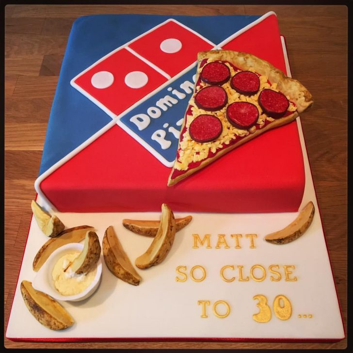 Pizza Birthday Cake Dominos Pizza Birthday Cake With Potato Wedges Food Pinterest