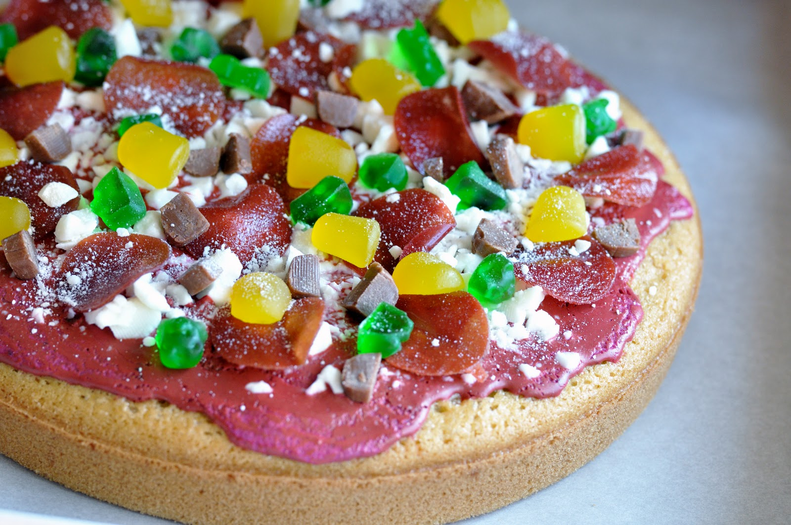 Pizza Birthday Cake Gluten Free Goodness Pizza Birthday Cake
