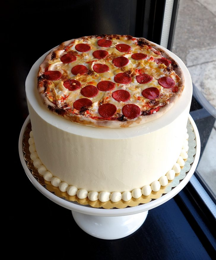 Pizza Birthday Cake Pepperoni Pizza Birthday Cake Sasa Flickr