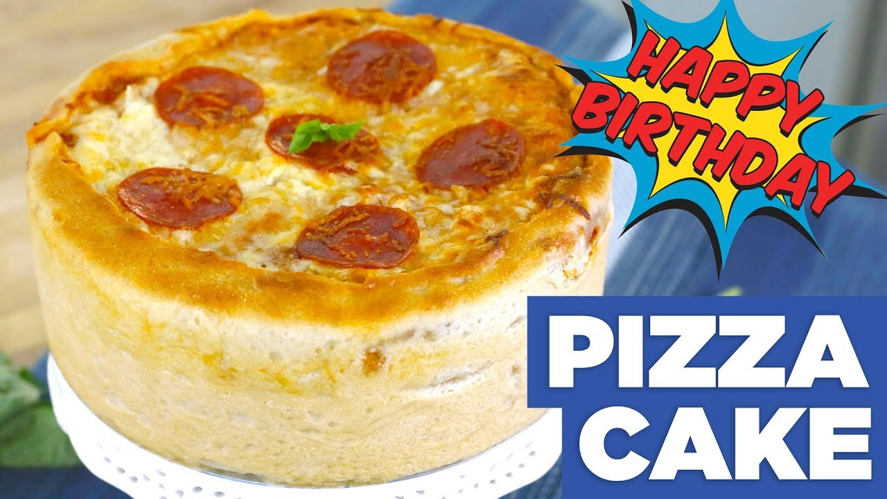 Pizza Birthday Cake Pizza Cake Happy Birthday Christian Eat The Pizza 33 Youtube
