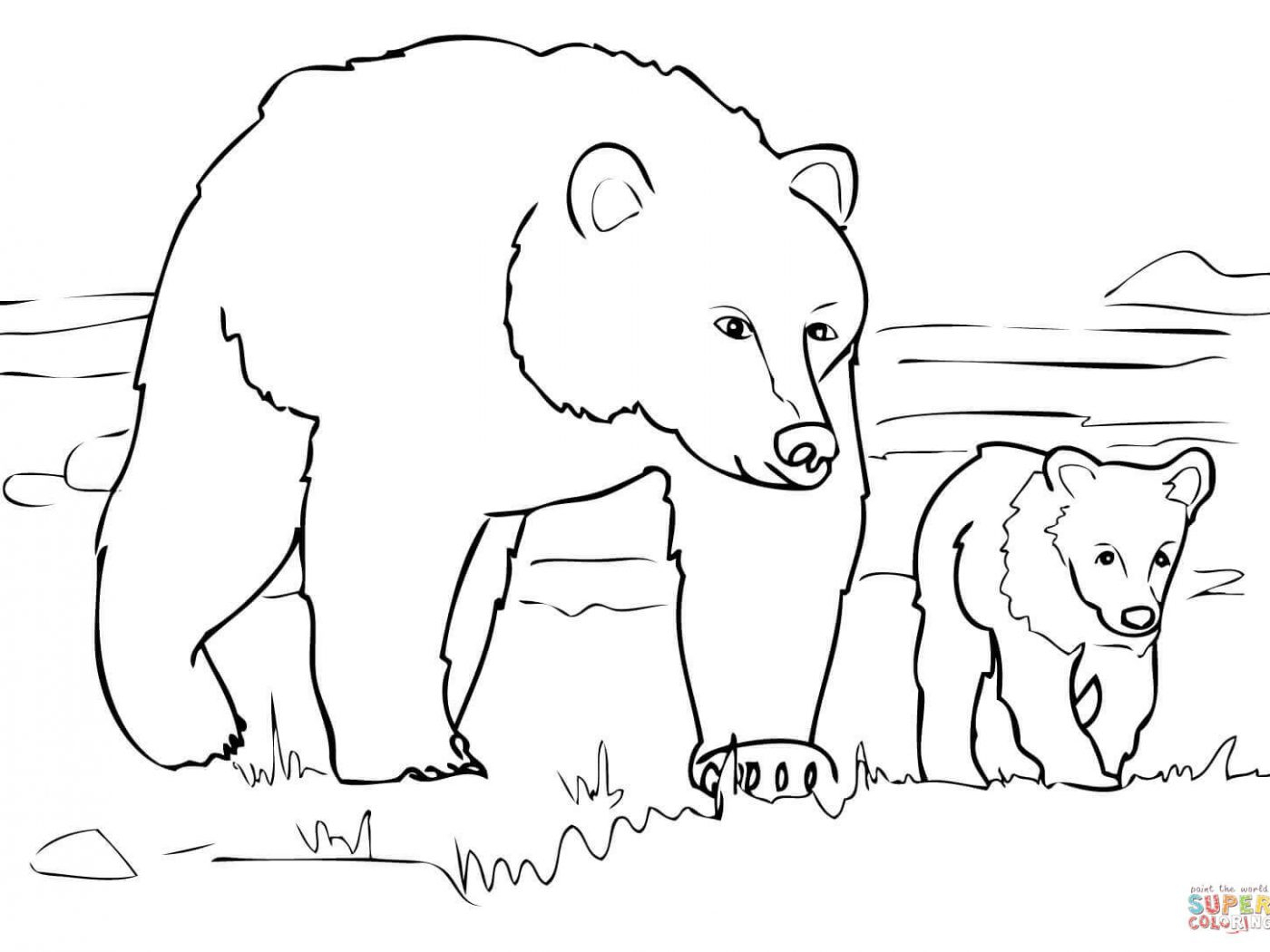 Polar Bear Coloring Pages Ba Polar Bear Coloring Pages At Getdrawings Free For