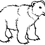 Polar Bear Coloring Pages Cute Polar Bear Coloring Pages Classic Style Printable Polar