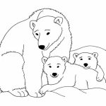 Polar Bear Coloring Pages Family Polar Bear Coloring Pages For Kids Coloringsuite
