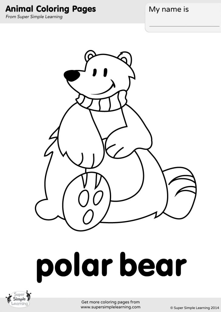Polar Bear Coloring Pages Polar Bear Coloring Page Super Simple
