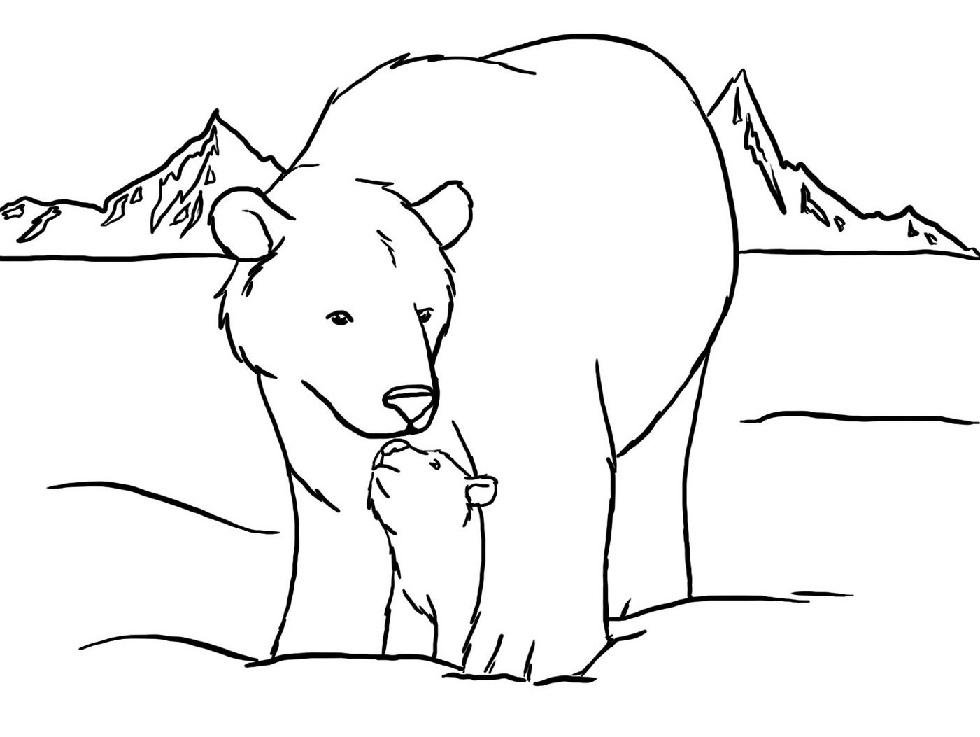 Polar Bear Coloring Pages Polar Bears Coloring Pages Free For Bear Page Bitslice
