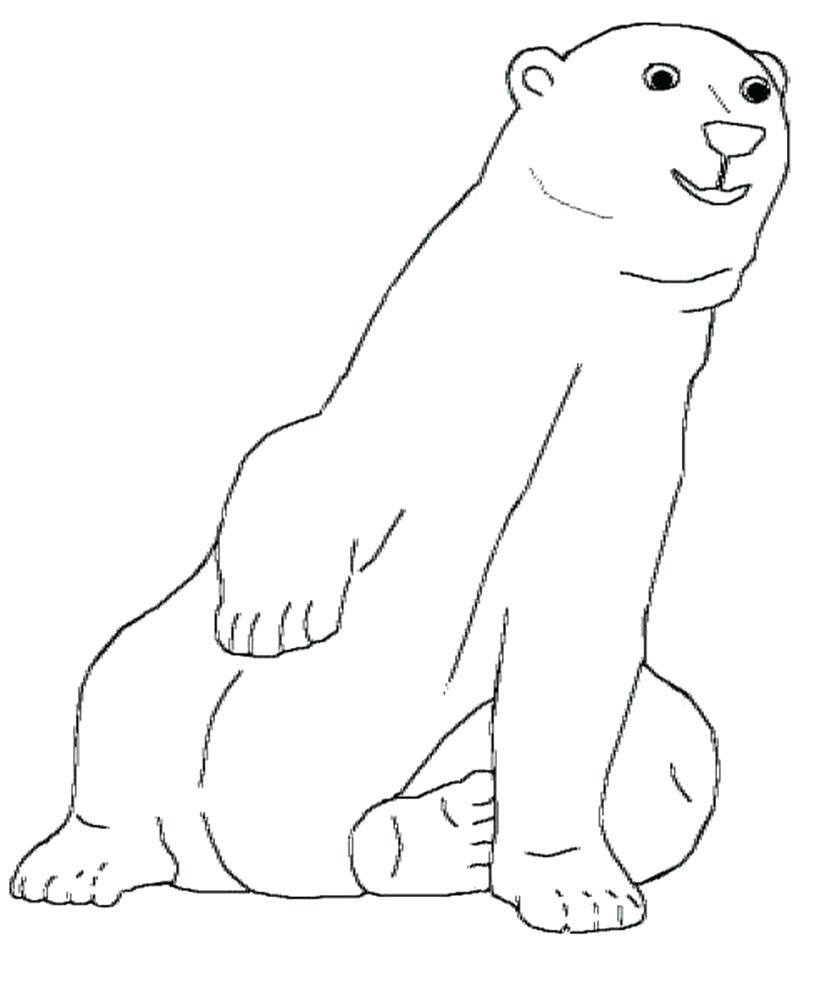 Polar Bear Coloring Pages Printable Coloring Polar Bear Coloring Page Free Coloring Book