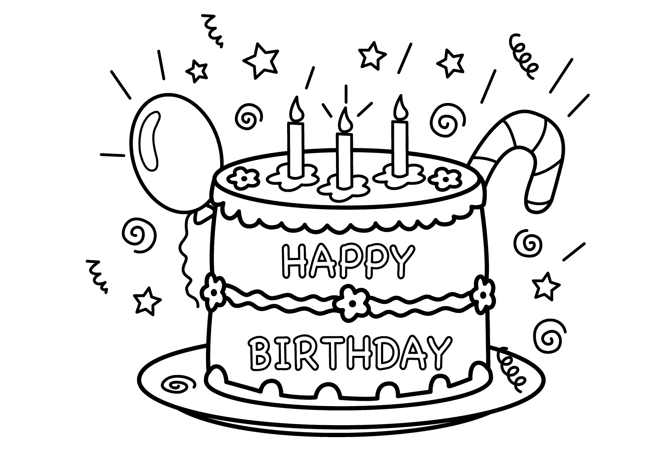 Printable Birthday Coloring Pages Free Printable Birthday Coloring Pages At Getdrawings Free For
