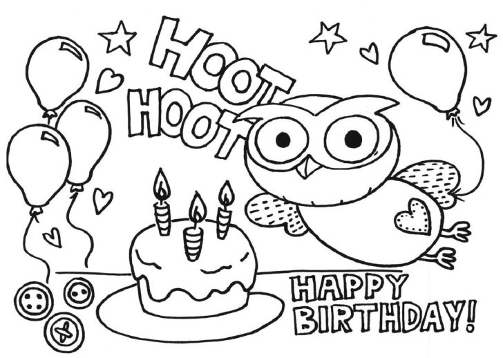 Printable Birthday Coloring Pages Happy Birthday Coloring Sheets Printables Happy Holidays