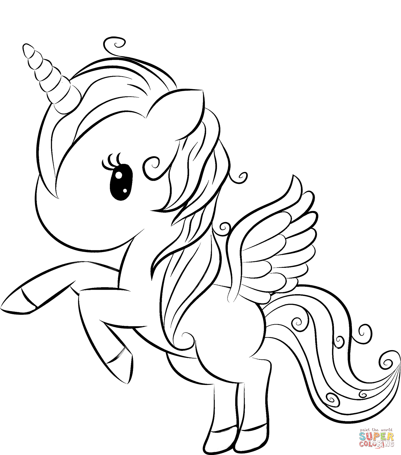 25+ Exclusive Image of Printable Unicorn Coloring Pages