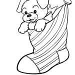 Puppy Dog Coloring Pages A Puppy Dog In A Christmas Stocking Coloring Page Free Printable