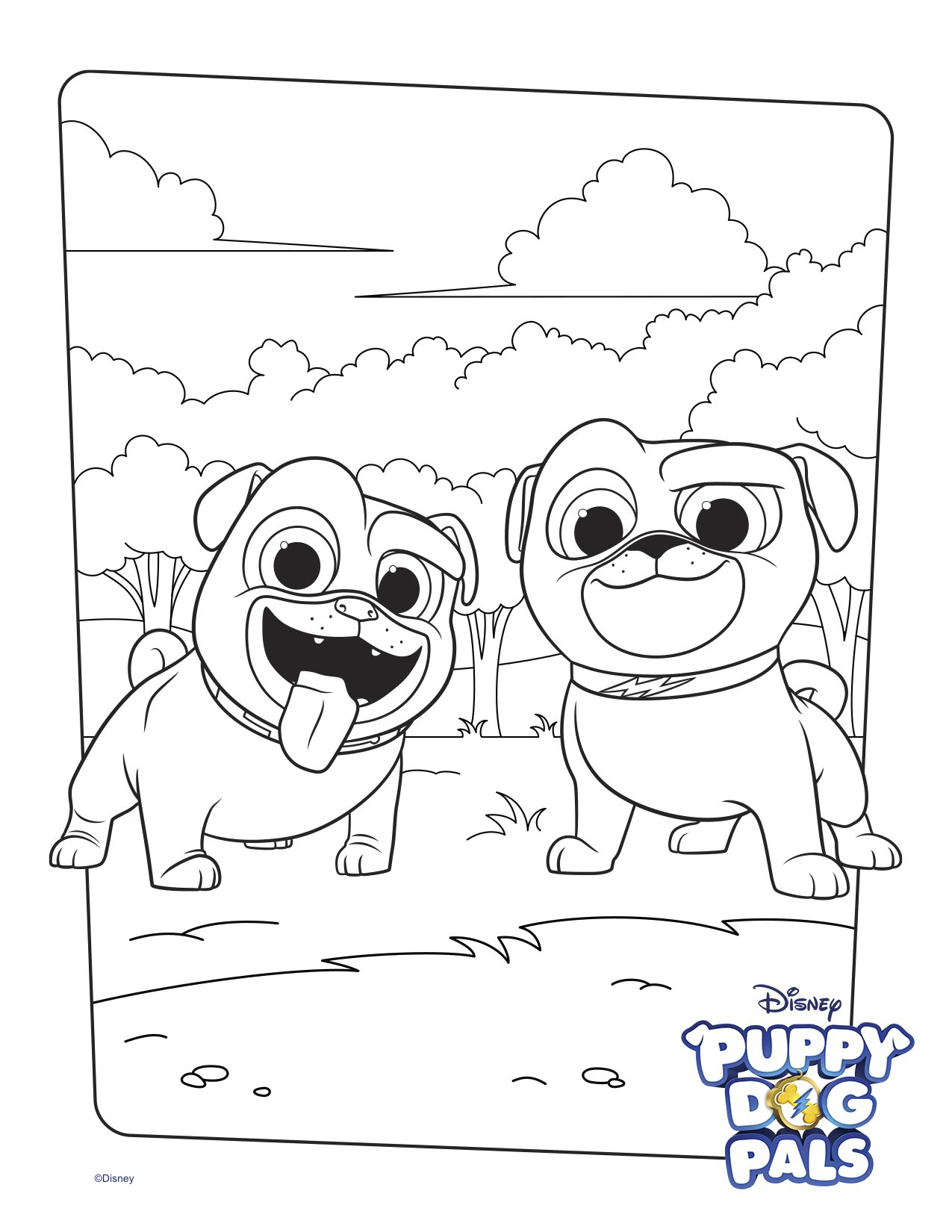Exclusive Image of Puppy Dog Coloring Pages