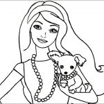 Puppy Dog Coloring Pages Colouring Drawings Barbie With Her Best Friend Puppy Dog With A
