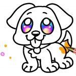 Puppy Dog Coloring Pages Easy Dog Coloring Pages For Kids Learning Colors With Puppy