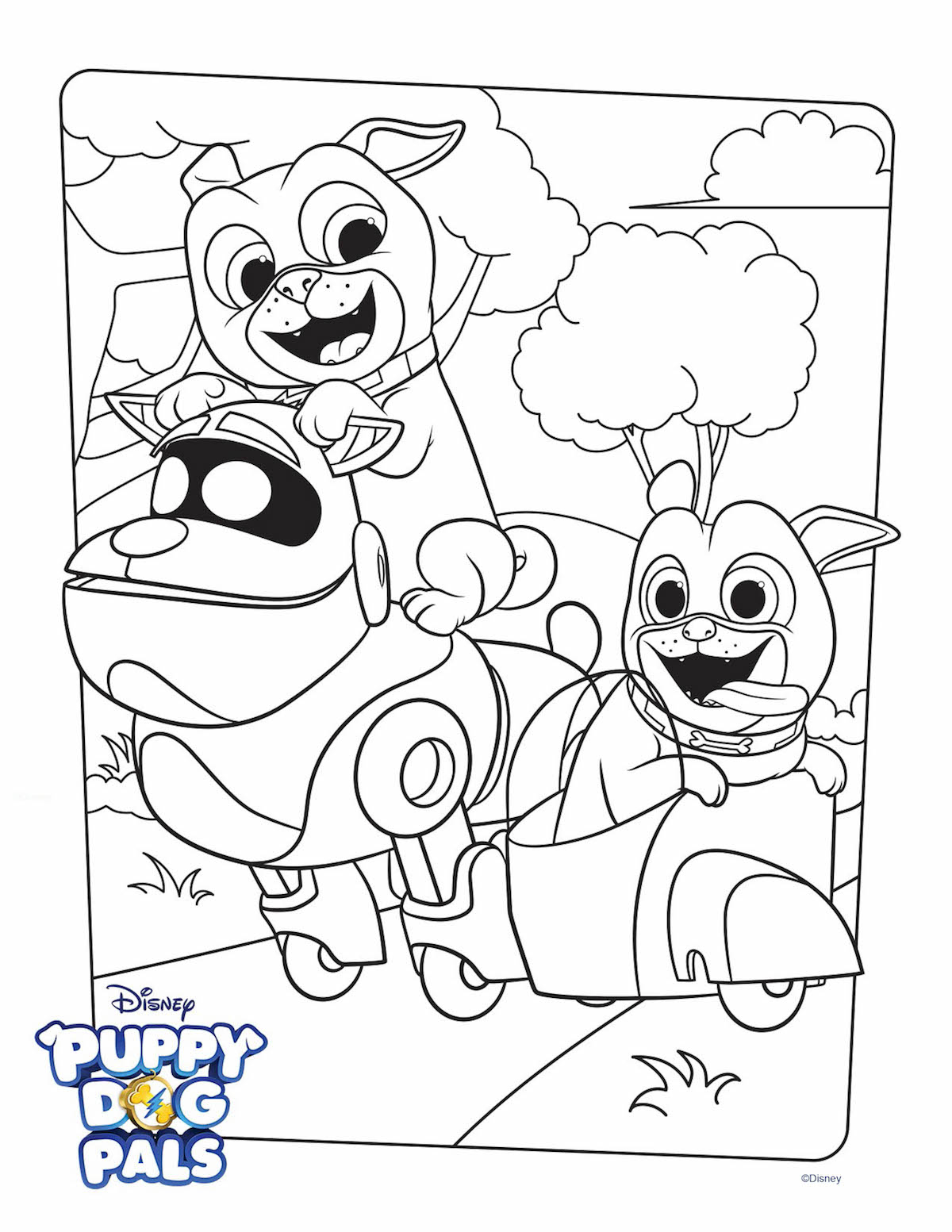 Puppy Dog Coloring Pages Puppy Dog Pals Coloring Page Activity Disney Family