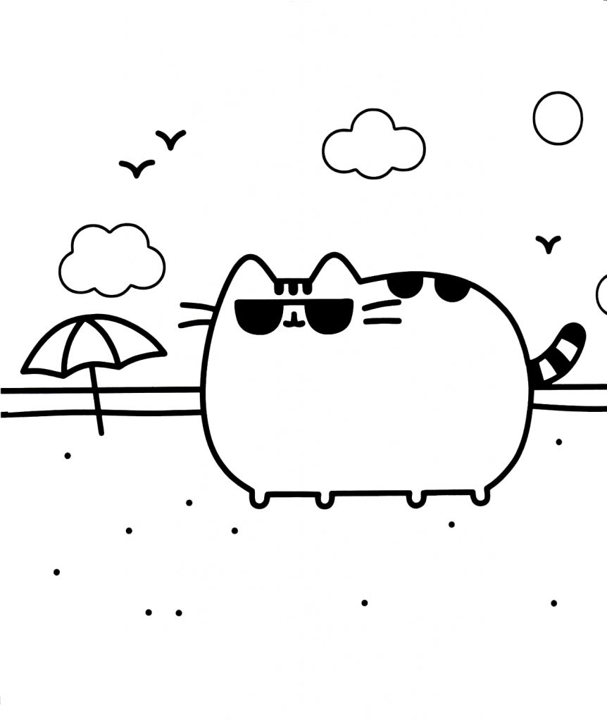 Pusheen Cat Coloring Pages Amazing Cat Unicorn Coloring Pages Sheets Pusheen Stock Photos Hd