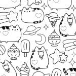 Pusheen Cat Coloring Pages Free Pusheen Cat Coloring Pages 150 Linear Get Coloring Page