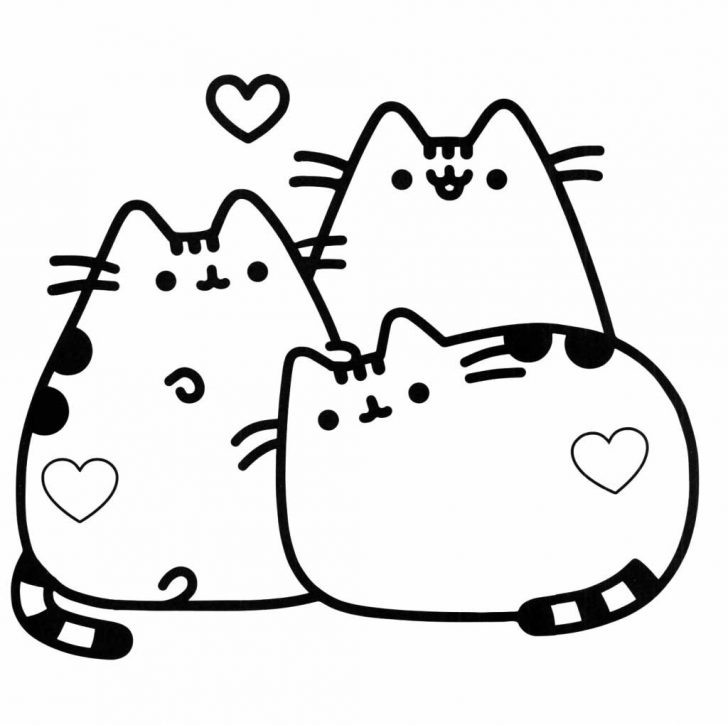 Pusheen Cat Coloring Pages Pusheen Cat Coloring Pages 10241020