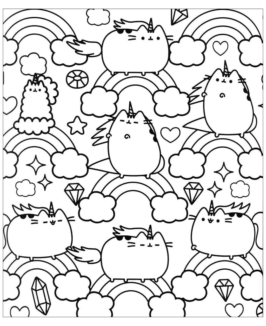 Pusheen Cat Coloring Pages Pusheen Cat Coloring Pages 131 Images Free Printable Coloring Pages