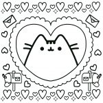 Pusheen Cat Coloring Pages Pusheen Cat Coloring Pages For Kids With Fresh Design Pusheen Cat