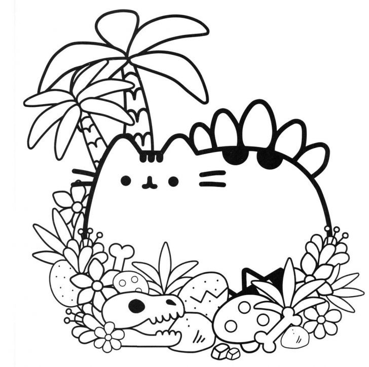 Pusheen Cat Coloring Pages Pusheen Cat Coloring Pages Printable Wwwilleurimage