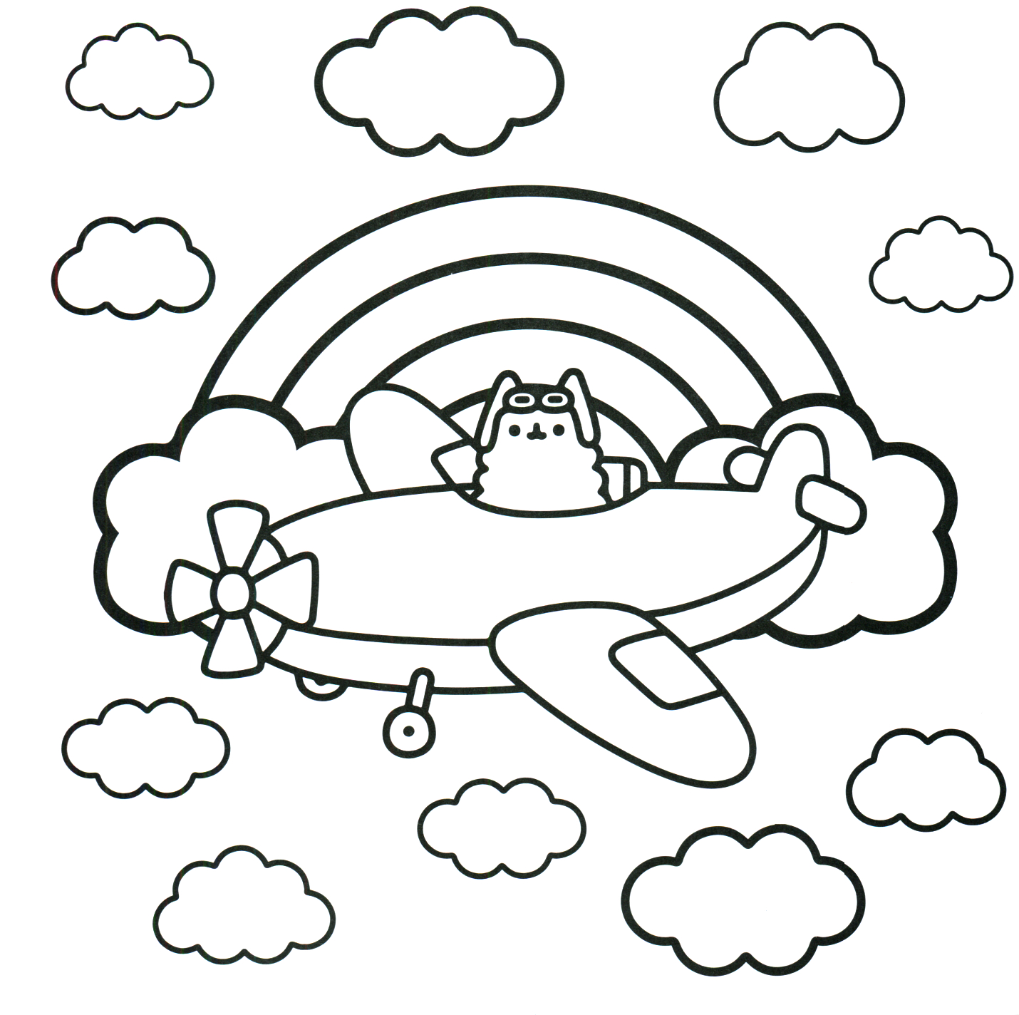 Pusheen Cat Coloring Pages Pusheen Coloring Pages Best Coloring Pages For Kids