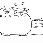 Pusheen Cat Coloring Pages Unicorn Pusheen Cat Coloring Pages Archives Coloring Page